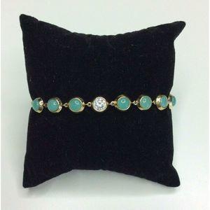 Michael Kors Gold Tone Adjustable Slide Bracelet